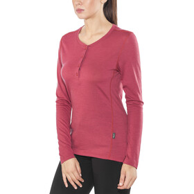 Lundhags Merino Light - T-shirt manches longues Femme - rouge